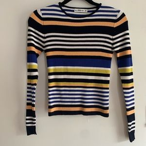 Striped Rib Knit Top